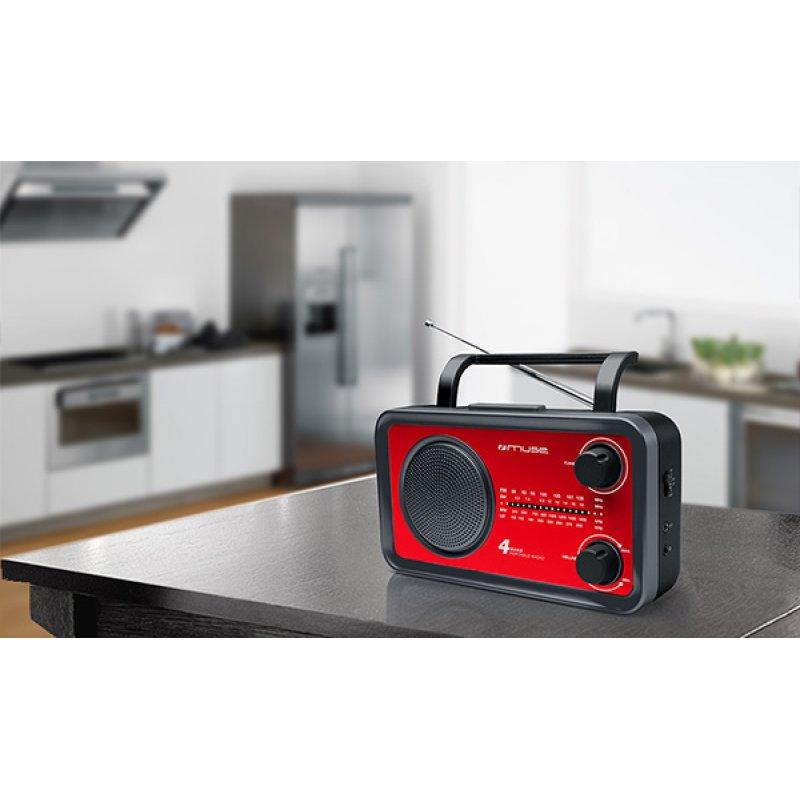 Αναλογικό ραδιόφωνο Muse M-05RED FM-AM ρεύματος/μπαταρίας με υποδοχή Aux in