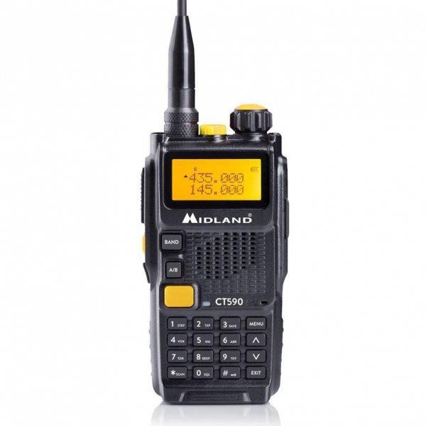 Midland CT-590 Φορητός πομποδέκτης Dual Band VHF/UHF με ισχύ 5 Watt