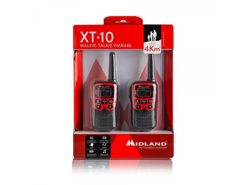 Midland XT10 Ζεύγος Φορητών Ασύρματων Πομποδεκτών PMR446 με 16 Κανάλια