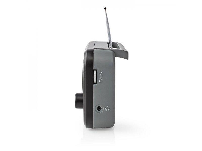 Φορητό ραδιόφωνο FM/AM, σε μαύρο/γκρι χρώμα NEDIS RDFM1330GY