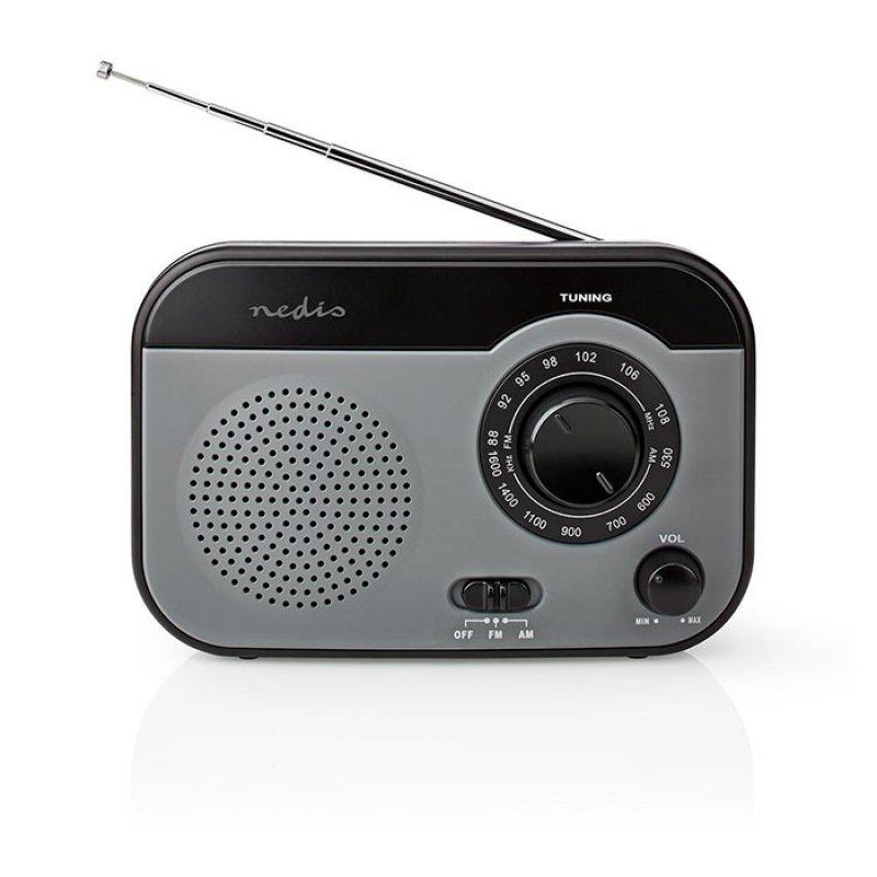 Φορητό ραδιόφωνο FM/AM, σε μαύρο/γκρι χρώμα NEDIS RDFM1340GY