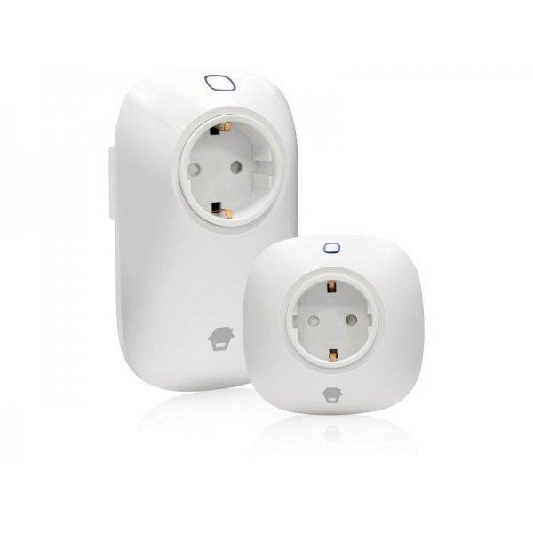 Chuango E5 Σετ 2 τηλεχειριζόμενες πρίζες μέσω Wi-Fi απο το κινητό σας και ειδικές ρυθμίσεις για λειτουργία οτι ώρα θέλετε
