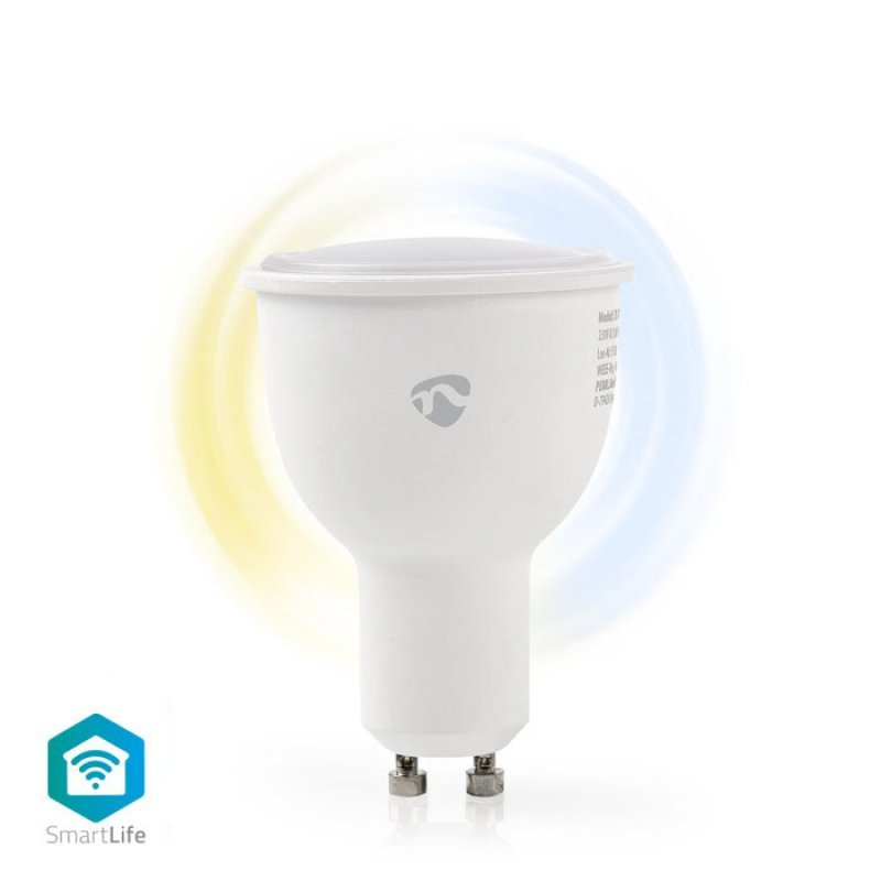Nedis WIFILW10WTGU10 Wi-Fi Έξυπνη Λάμπα Led,GU10,4.5W,380Lm