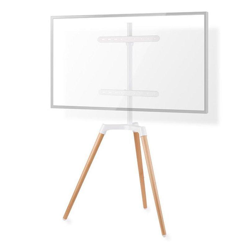 Nedis TVSM7060WT Επιδαπέδια Βάση Για Τηλεοράσεις 50''-65'' Σε Λευκό Και Ξυλινο Χρώμα