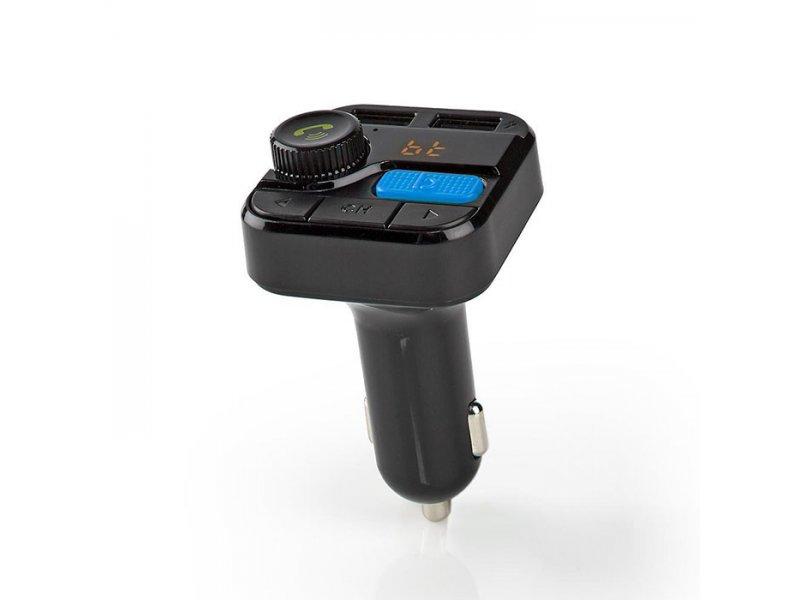 NEDIS CATR121BK 3 Σε 1 Bluetooth Αναμεταδότης FM,Hands Free Και Φορτιστής Με Λειτουργία Φωνητικού Ελέγχου