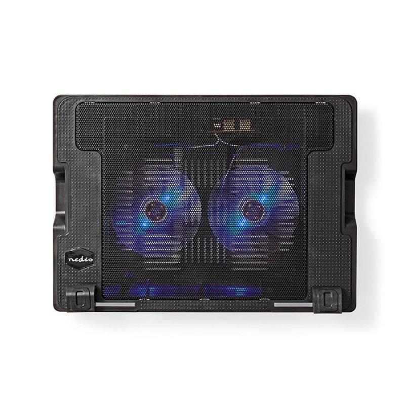 Nedis NBCR200BK Notebook Cooler Για Laptop Εως 18'' Σε Μαύρο Χρώμα