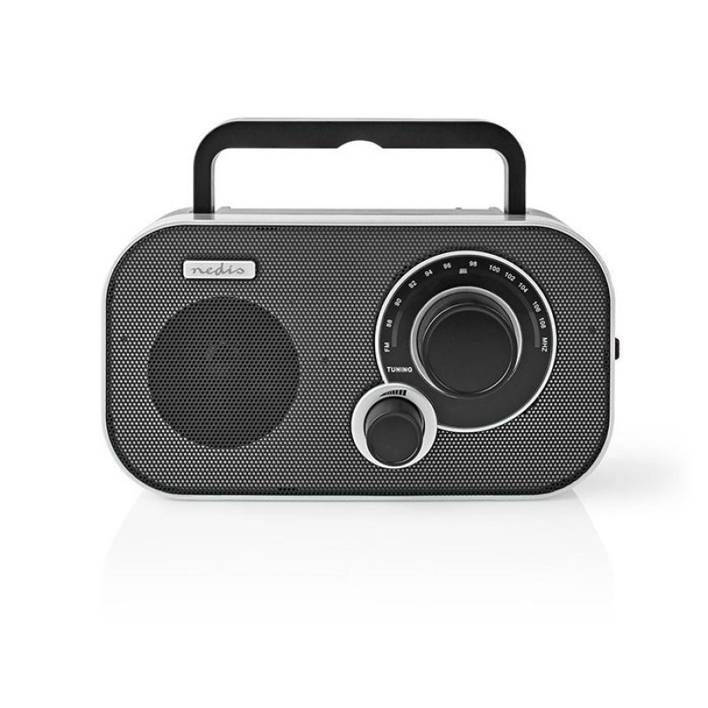 Nedis RDFM1320SI Φορητό Ραδιόφωνο FM Σε Μαύρο/Ασημί Χρώμα