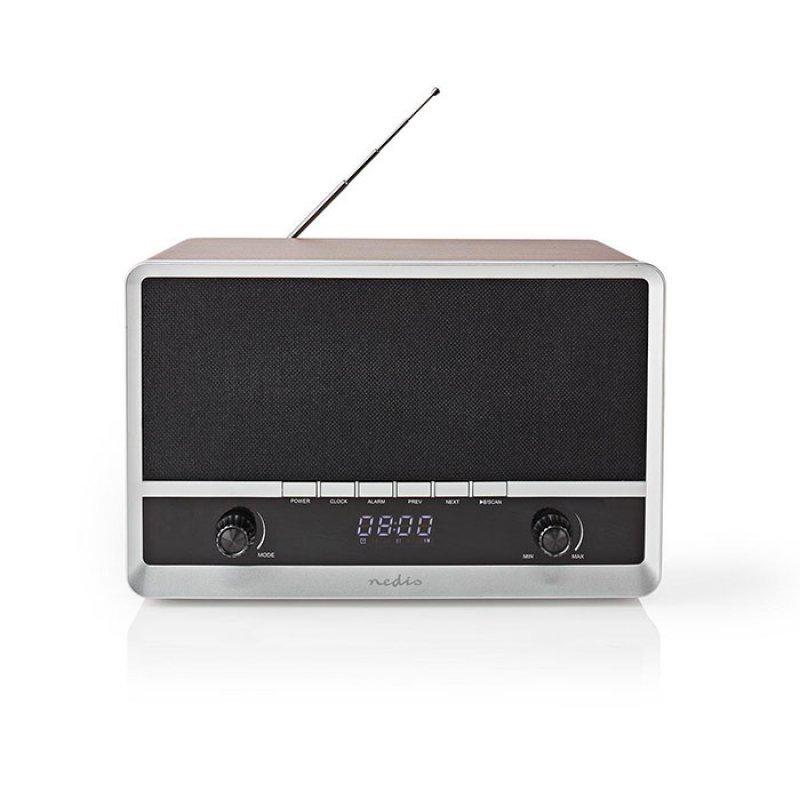 Nedis RDFM5200BN Επιτραπέζιο Ηχείο Bluetooth Με Ψηφιακό Ραδιόφωνο FM,Σε Ρετρό Design