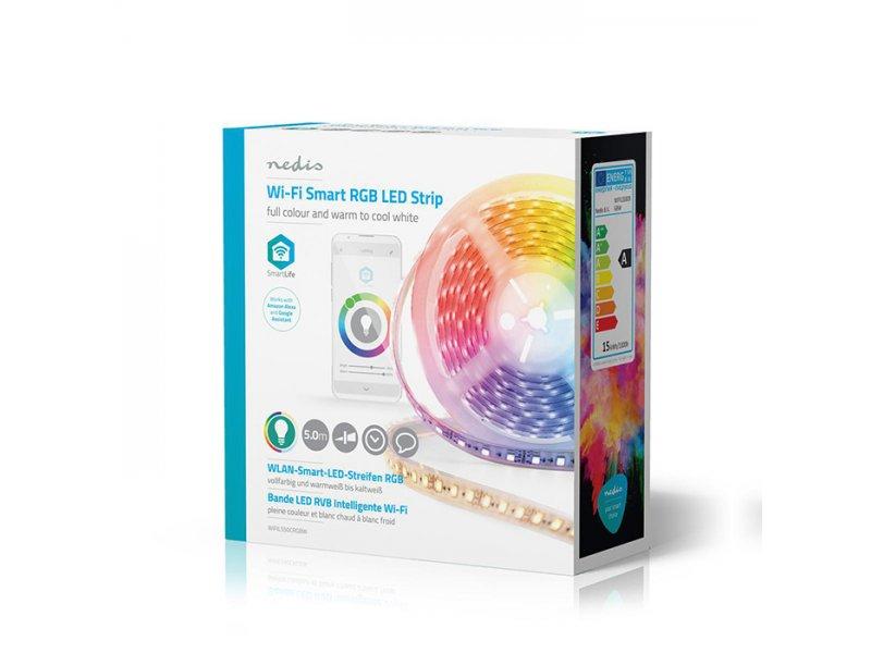 Nedis WIFILS50CRGBW Wi-Fi Smart RGB Ταινία Led 5m