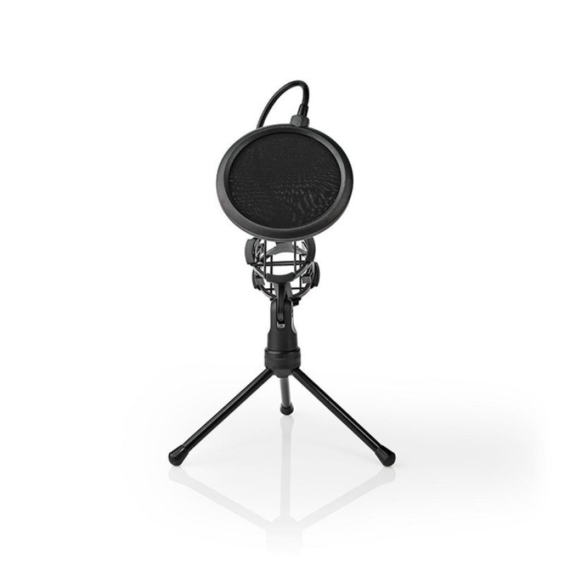 Nedis MPST00BK Επιτραπέζιος Τρίποδας Μικροφώνου Με Pop Φίλτρο