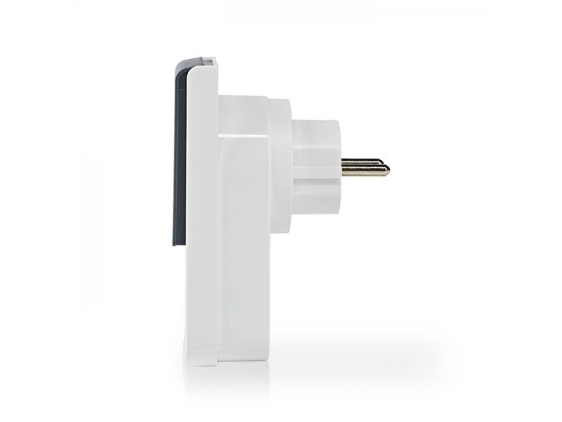 Nedis WIFIPO120FWT Wi-Fi Smart Plug εξωτερικού χώρου, 16Α, με μετρητή κατανάλωσης ενέργειας.
