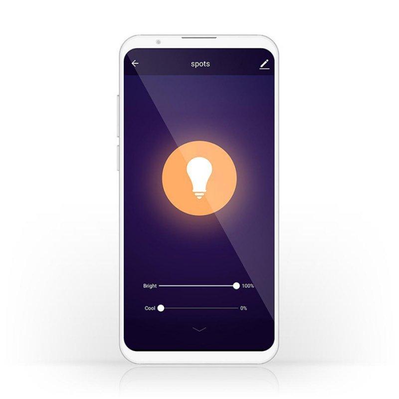 Nedis WIFILW13WTE14 Wi-Fi έξυπνη λάμπα LED, E14, Candle, 4.5W, 350lm.