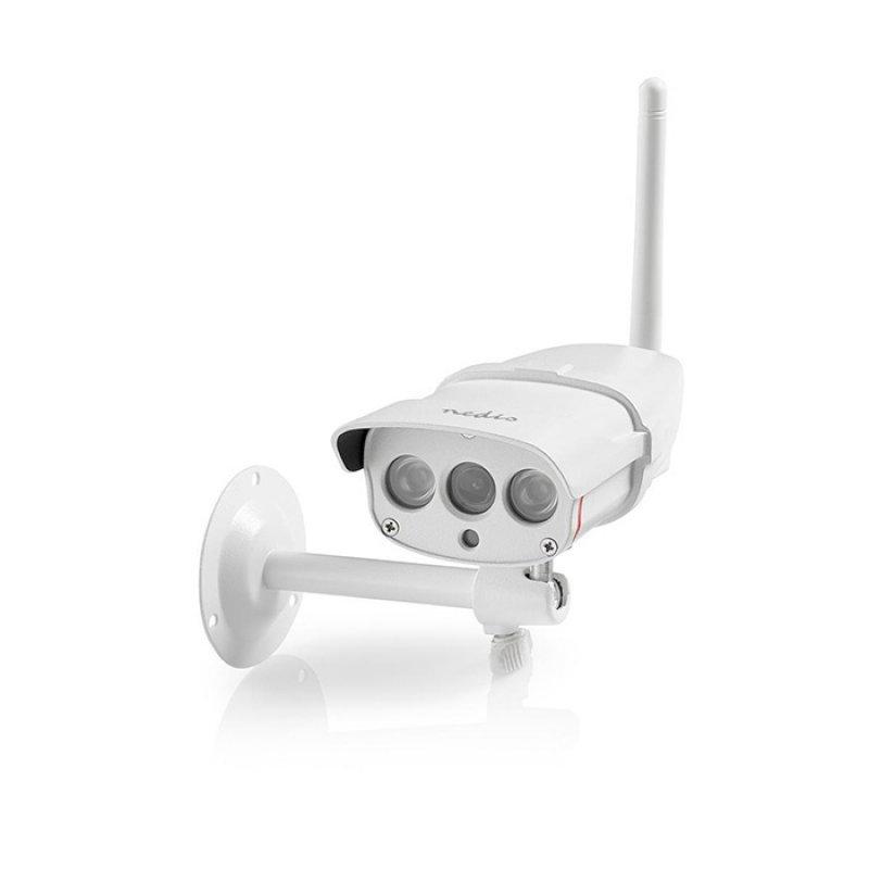 Nedis WIFICO030CWT Αδιάβροχη WiFi Smart IP Kάμερα Full HD 1080p Με Υπέρυθρες Led