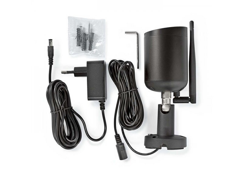 Nedis WIFICO40CBK WiFi IP Αδιάβροχη Camera Full HD 1080p Με Υπέρυθρες Led