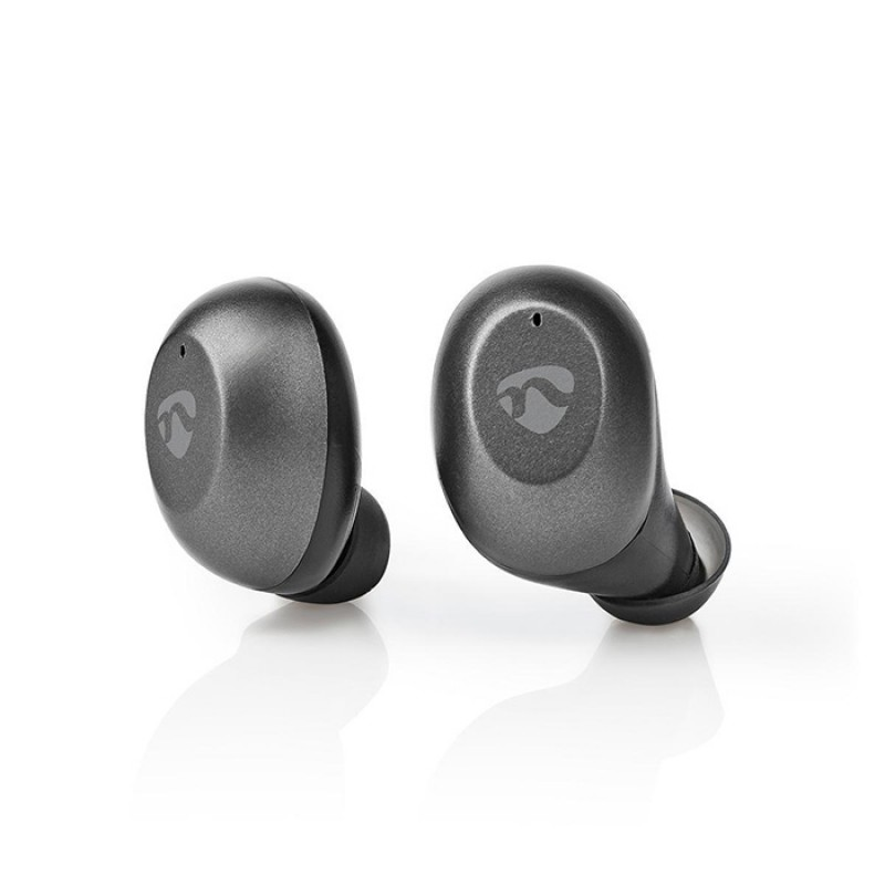 233-2024 Nedis Bluetooth Ακουστικά Handsfree Με Θήκη Φόρτισης Σε Γκρί Χρώμα