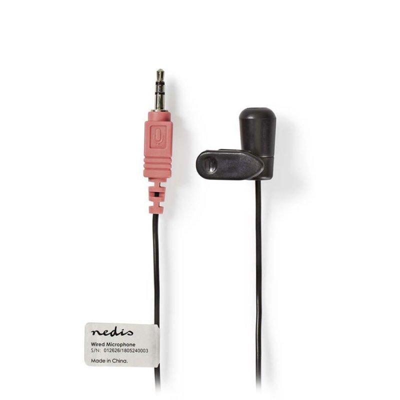 Ενσύρματο Μικρόφωνο Πέτου Με Κλίπ, Σε Μαύρο Χρώμα Nedis MICCJ100BK