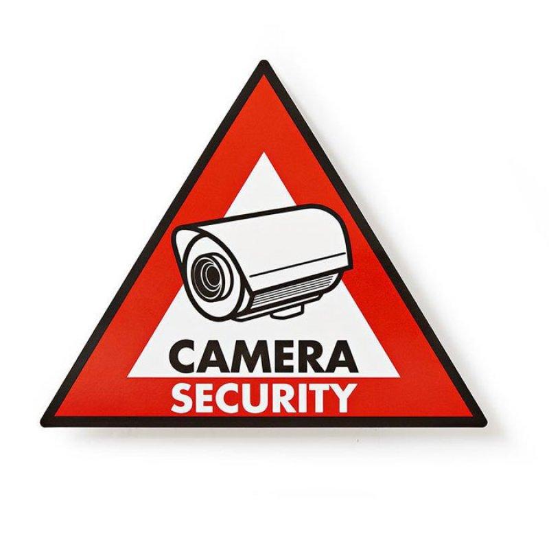 Αυτοκόλλητο CAMERA SECURITY 148x123mm.