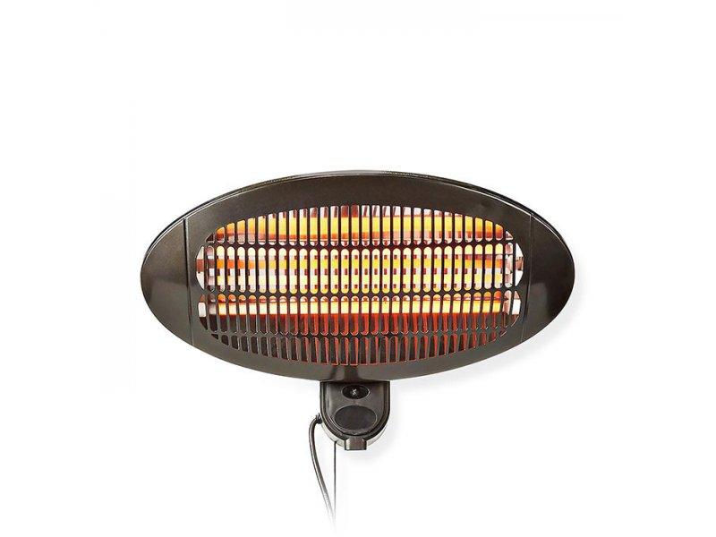 Επιτοίχια Ηλεκτρική Θερμάστρα Χαλαζία Με Πιστοποίηση Αδιαβροχοποίησης,2000W Nedis HTPA110EBK
