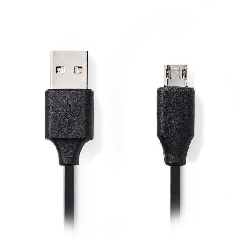 Nedis  Καλώδιο USB 2.0 A αρσ. σε micro B αρσ., 2m.