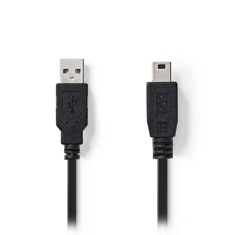 Nedis Καλώδιο USB 2.0 A αρσ. σε Mini 5-pin αρσ., 1m