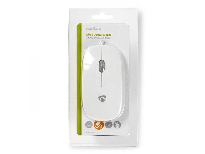 Εξαιρετικά λεπτό οπτικό ποντίκι USB, 1000 dpi σε άσπρο χρώμα