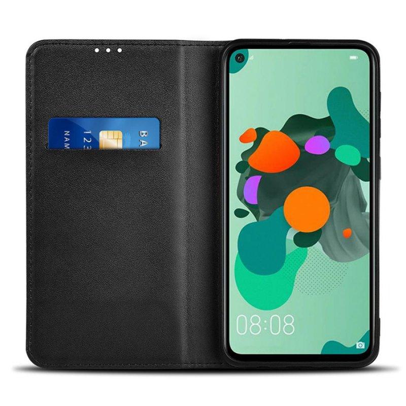 Θήκη Wallet Book για το Huawei Mate 30 Lite/Nova 5i Pro, σε μαύρο χρώμα.