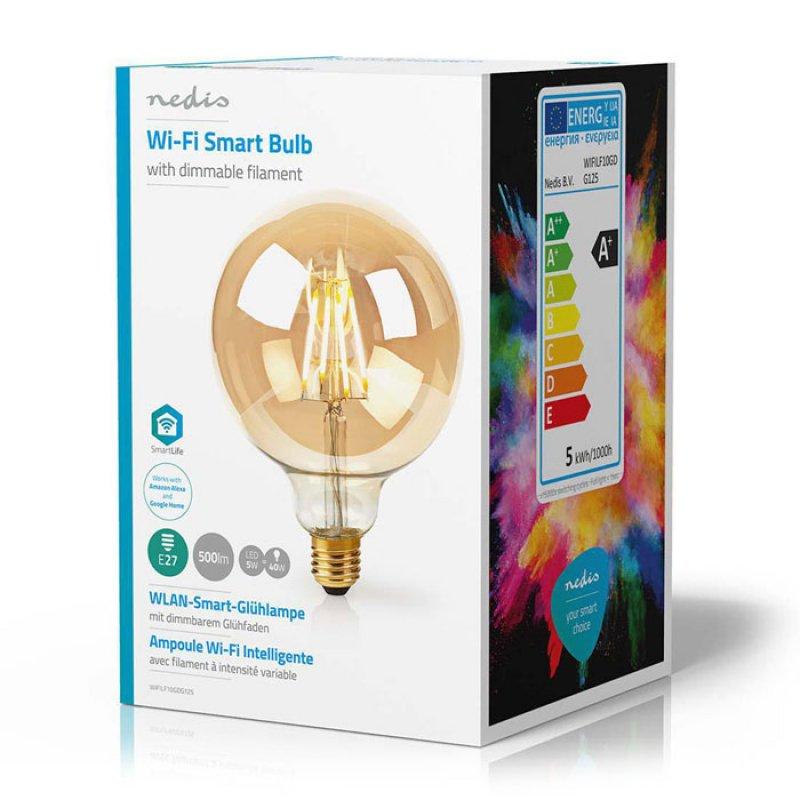 Wi-Fi έξυπνη λάμπα Filament Retro LED, E27, 5W, 500lm