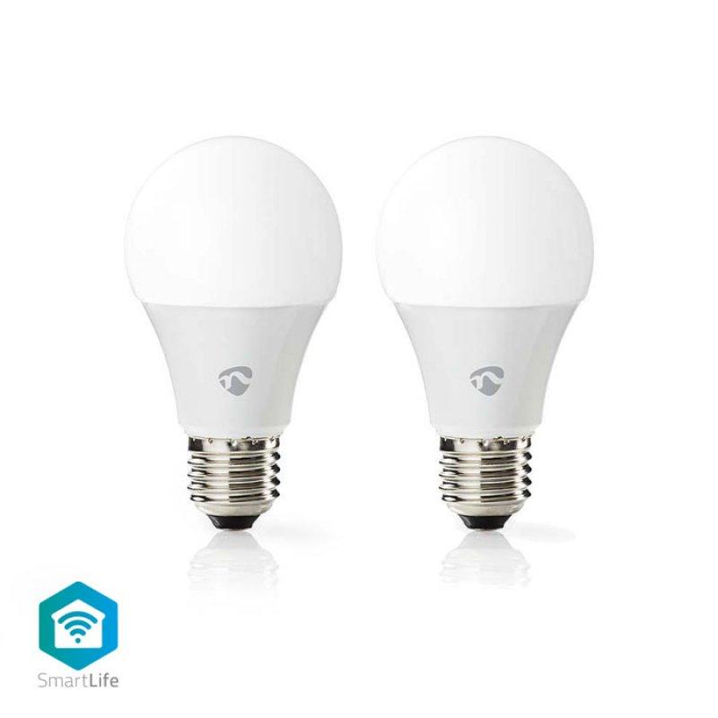 Wi-Fi έξυπνες λάμπες LED, E27, A60, 6W, 470lm, σε συσκευασία 2 τεμαχίων.