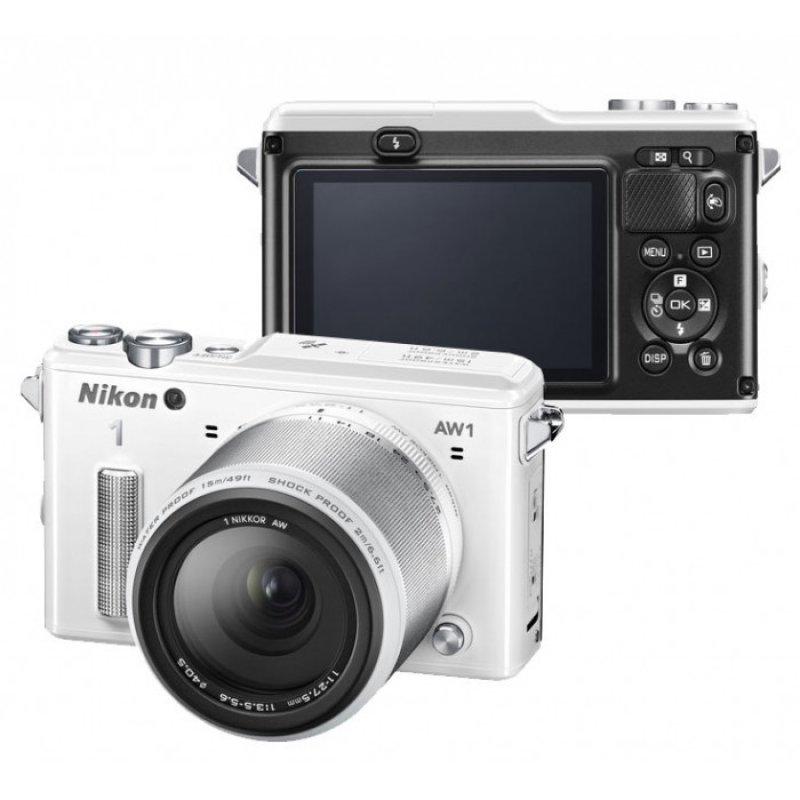 Nikon1 ΕΠ AW1 υποβρύχια ψηφιακή φωτογραφική μηχανή με 1 Nikkor AW 11-27,5 mm WH KIT
