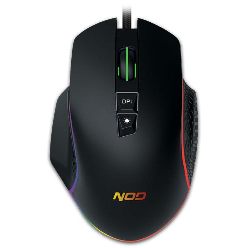 Nod Run Amok Wired 7D Ενσύρματο Rgb Gaming Mouse Με Ανάλυση Εως Και 6400 Dpi