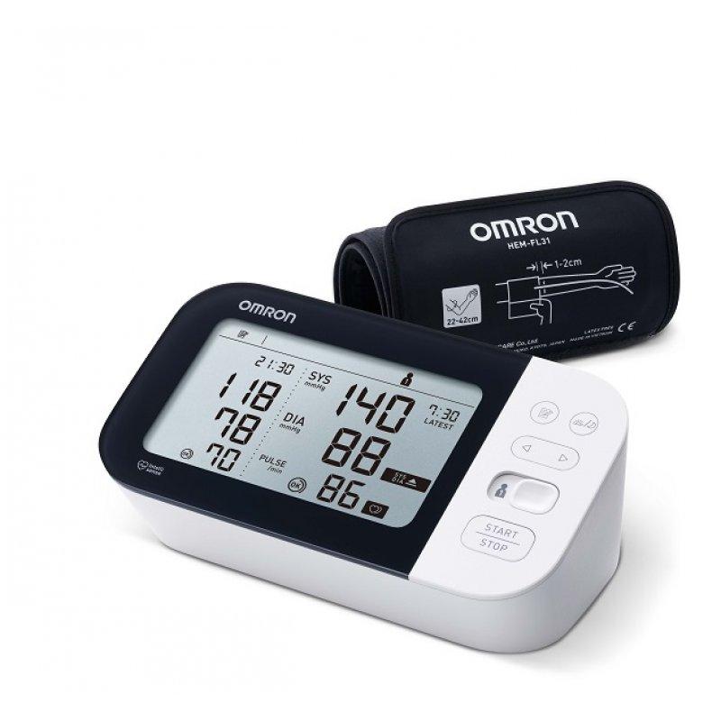 Omron M7 Intelli IT Έξυπνο Πιεσόμετρο Bluetooth Μπράτσου με περιχειρίδα μεσαίου/μεγάλου μεγέθους HEM-7361T-EBK