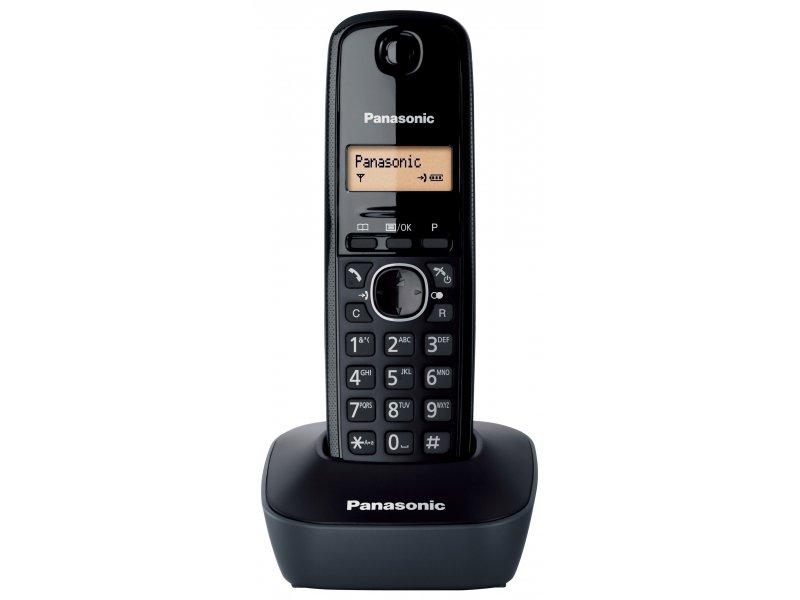 Panasonic KX-TG1611GRH μαύρο Ασύρματο τηλέφωνο με φωτιζόμενη οθόνη