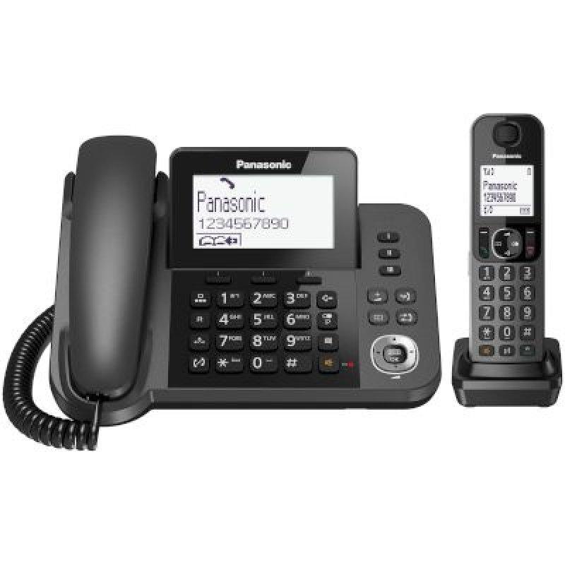 Panasonic KX-TGF310EXM μαύρο ECO Ασύρματο και σταθερό τηλέφωνο μαζί,δουλεύει και σε διακοπή ρεύματος