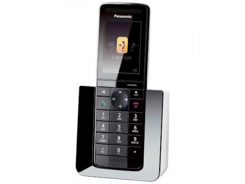Panasonic KX-PRS110GRW Diamond μαύρο/άσπρο Ασύρματο τηλέφωνο με έγχρωμη οθόνη και μεγάλα πλήκτρα