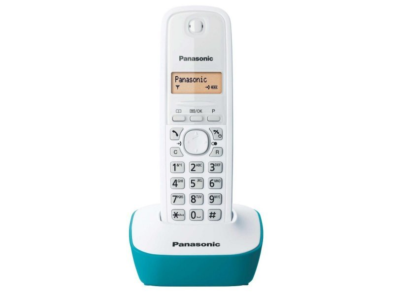 Panasonic KX-TG1611GRC Cyan Ασύρματο τηλέφωνο με φωτιζόμενη οθόνη