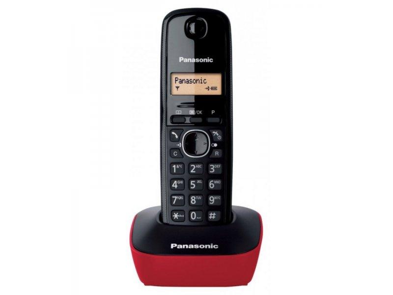 Panasonic KX-TG1611GRR Red Ασύρματο τηλέφωνο με φωτιζόμενη οθόνη