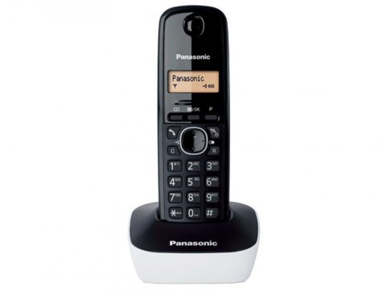 Panasonic KX-TG1611GRW White Ασύρματο τηλέφωνο με φωτιζόμενη οθόνη