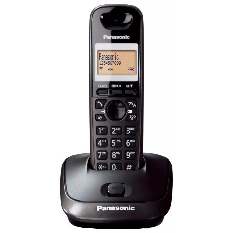 Panasonic KX-TG2511GRT Titanium Black Ασύρματο τηλέφωνο ECO Mode με ανοιχτή συνομιλία