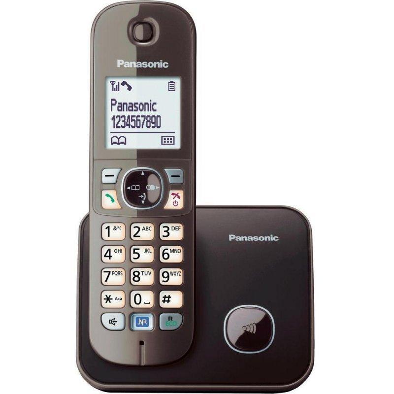 Panasonic KX-TG6811GRA καφέ Ασύρματο τηλέφωνο ECO δυνατότητα φραγής κλήσεων και λειτουργία σε διακοπή ρεύματος