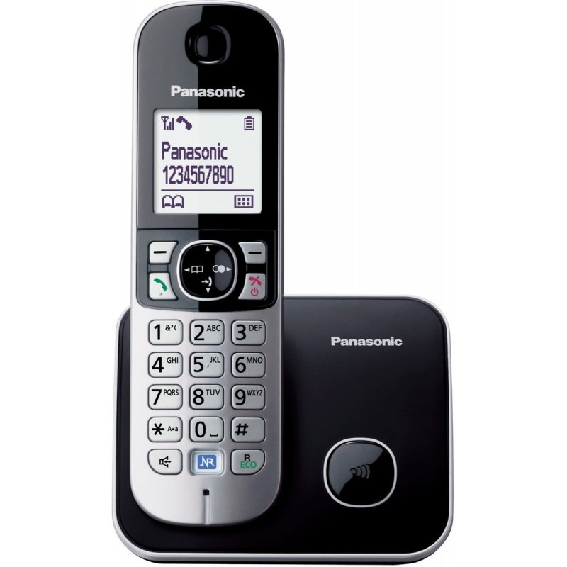 Panasonic KX-TG6811GRB μαύρο Ασύρματο τηλέφωνο ECO δυνατότητα φραγής κλήσεων και λειτουργία σε διακοπή ρεύματος
