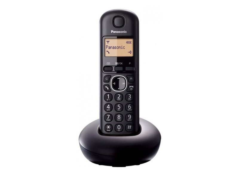 Panasonic KX-TGB210GRB Black Ασύρματο τηλεφωνο με μεγάλη φωτιζόμενη οθόνη