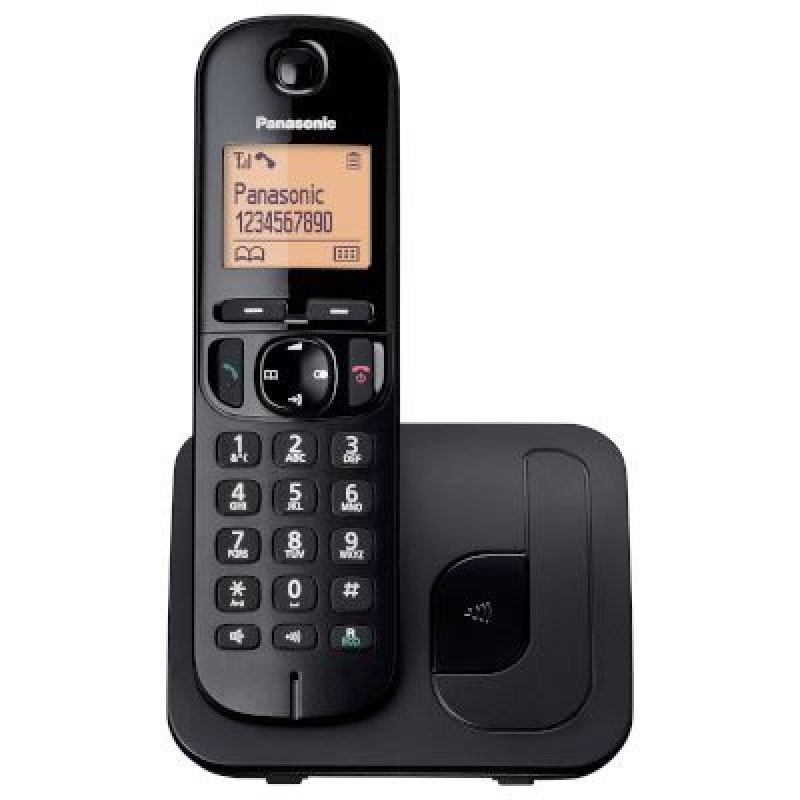 Panasonic KX-TGC210GRB Black Ασύρματο τηλέφωνο με λειτουργία ECO φωτιζόμενη οθόνη και δυνατότητα φραγής κλήσεων