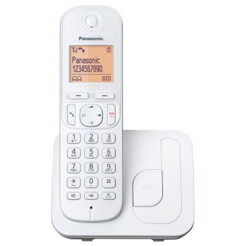 Panasonic KX-TGC210GRW Λευκό Ασύρματο τηλέφωνο με λειτουργία ECO φωτιζόμενη οθόνη και δυνατότητα φραγής κλήσεων