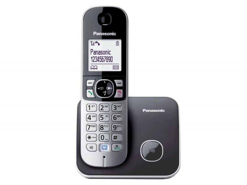 Panasonic KX-TG6811GRM γκρί Ασύρματο τηλέφωνο ECO δυνατότητα φραγής κλήσεων και λειτουργία σε διακοπή ρεύματος