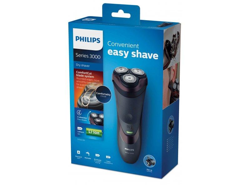 Ξυριστική Μηχανή πλενόμενη επαναφοριζόμενη/ρεύματος Philips S3520/06 με Flex Κεφαλές 4 Κατευθύνσεων