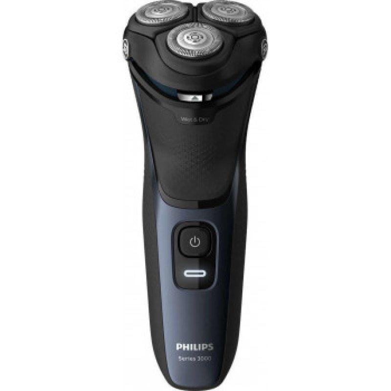 Philips 3000 S3134/51 Επαναφορτιζόμενη Ξυριστική Μηχανή Wet&Dry Με Σύστημα ΛεπίδωνPowerCut