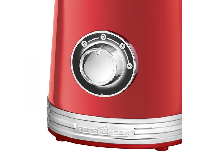 PC-UM 1195 RED Vintage Μπλέντερ 1.5L Σε Κόκκινο Χρώμα 800W