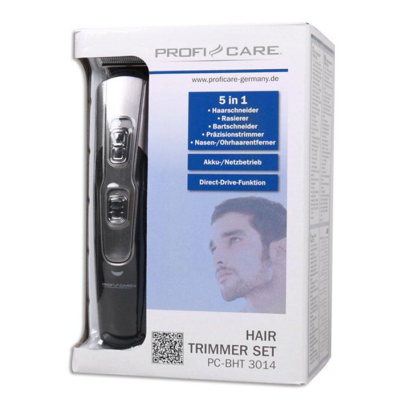 Eπαναφορτιζόμενη Κουρευτική- Ξυριστική μηχανή για μαλλιά, πρόσωπο και σώμα, κιτ 5 σε 1