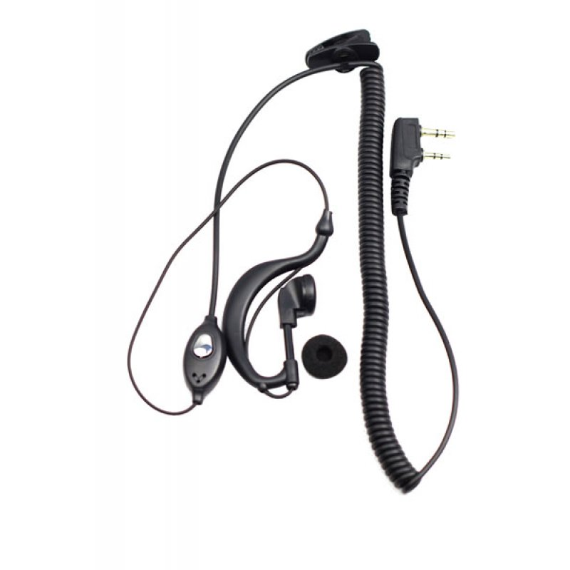 Hands-Free ακουστικά με διπλό καρφί για Baofeng και ασύρματους πομποδέκτες με υποδοχή με διπλό καρφί