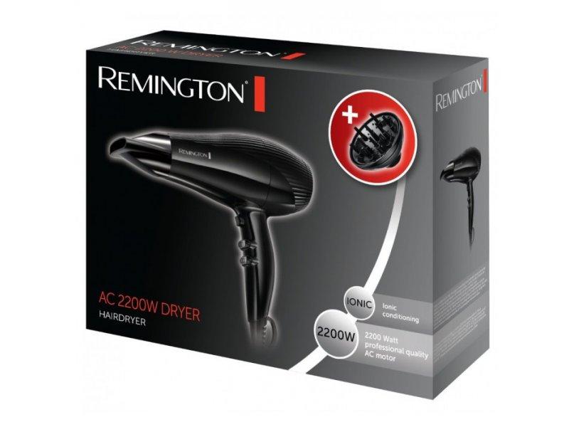 Remington AC3300 σεσουάρ πιστολάκι μαλλιών Ισχύς 2200W με μεγάλης διάρκειας μοτέρ AC 3 ρυθμίσεις θερμοκρασίας και 2 ρυθμίσεις ταχύτητας